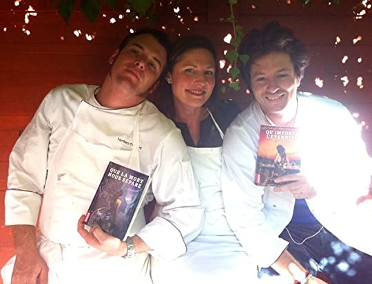 Here I am on a French reality show with 2 famous French chefs holding my French books. Is that French enough for you?