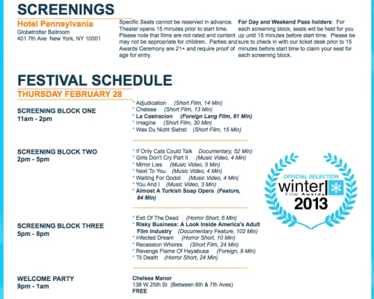 Almost a Turkish Soap Opera screening at the Winter Film Awards in New York City on Feb 28