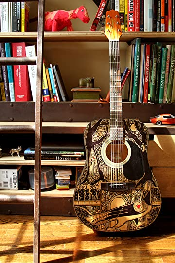 The Sharpie Guitar for The Raven Boys