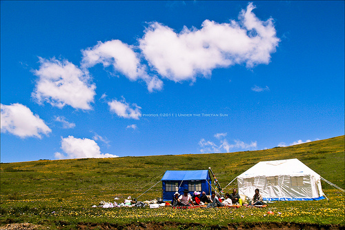little tents on the prairie