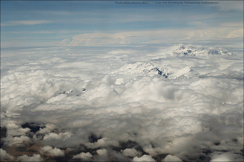 Somewhere over the Himalayas!