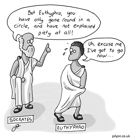What are a few examples of Socratic Irony in the writing