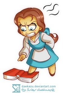 Belle strongly dislike the book