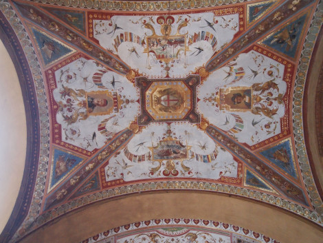 Ceiling mosaic on Piazza Cavour