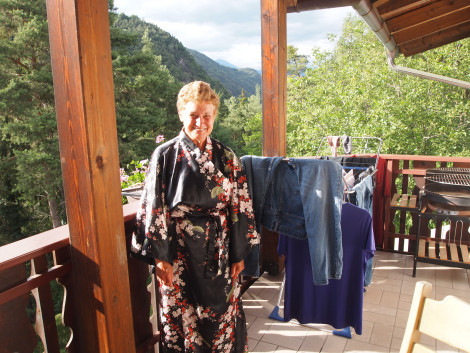 Travel buddy, good cook, occasional laundress, hanging wet clothes to dry in the morning sun.