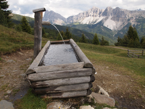 Along hiking trail in Val Croce