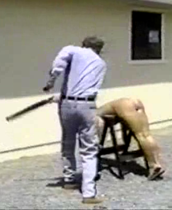 Erotic whipping with two naked mistress 1