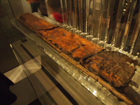 Otzi's goat skin quiver and arrow shafts