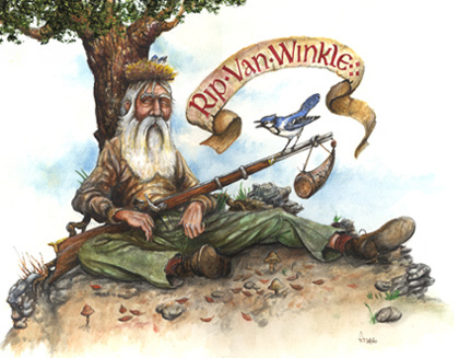 an analysis of the story rip van winkle by washington irving Keywords: rip van winkle irony, humor in rip van winkle washington irving used so much irony in his short story rip van winkle the title character is a youthful married dutch american who has a kind and generous nature.