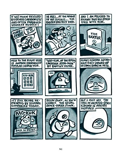 Page 45 of The Great Northern Brotherhood of Canadian Cartoonists, showing the Kao-Kuk comic