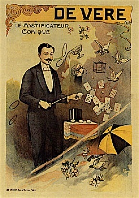Vintage poster of magician