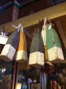 Buoys to hang indoors or out.