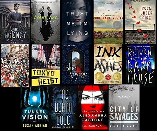 This is the YA Dash first prize: 14 new-release suspense novels!