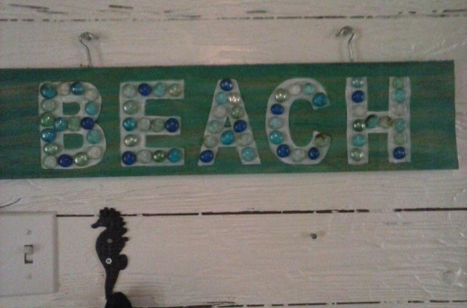 I love bling on my beach signs!