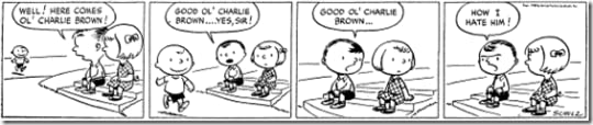 The first Peanuts strip ever published