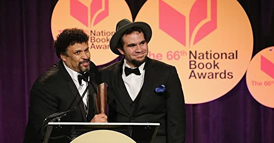 Brendan and me accepting our National Book Award