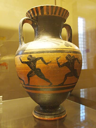 Etruscan vase in early Grecian style