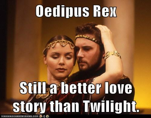 How does oedipus rex display the 5 stages of grief?