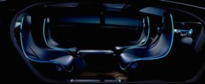 Mercedes concept showing seats in a car facing each other for talking or dining. (Source: Gizmag)