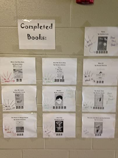 Mr. K's Book Review Wall