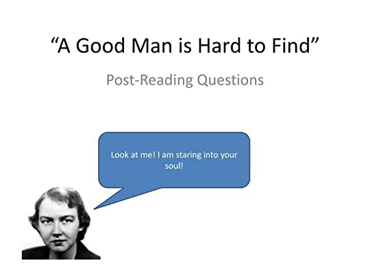 thesis on a good man is hard to find In flannery o'connor's a good man is hard to find, the grandmother's  conception of morality has a great deal more to do with whether or not one  agrees with.