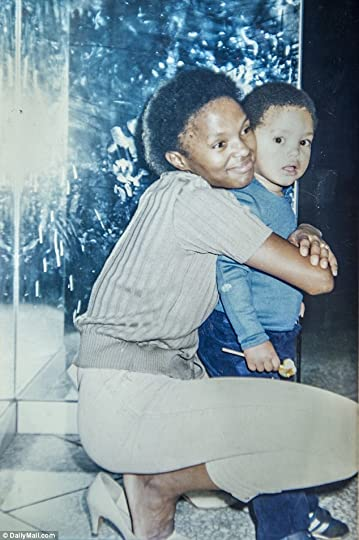 Trevor Noah (3 yrs) & mother