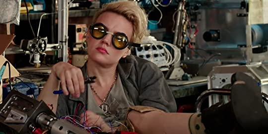Ghostbusters character Holtzmann wearing her own unique idea of a scientists outfit