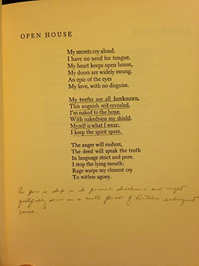 A picture of a Theodore Roethke Poem with handwritten notes