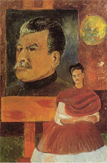 Frida Kahlo, Self-Portrait with Stalin, 1954