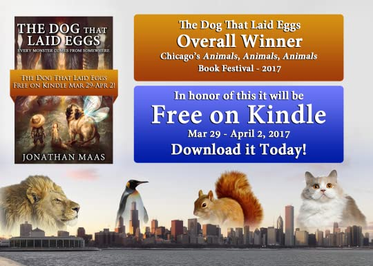 Promo pic for Humor book 'The Dog That Laid Eggs' - Free on Kindle Mar 29 - Apr 2 2017