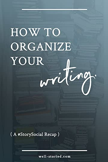 Struggle to keep track of your notes, story ideas, and drafts? Learn how to get organized by using some of the tips & tricks authors shared during the #StorySocial chat from 4/26/17.