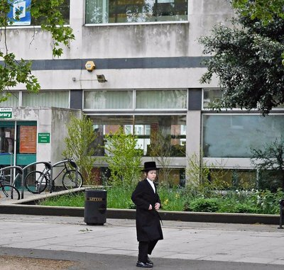 A young man near Stamford Hill Library