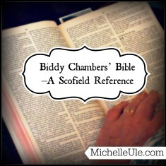 Biddy Chambers' Bible, Scofield Reference Bible, Mrs. Oswald Chambers, Bible notes, Bible commentary notes, writing in your Bible