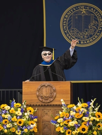 T.A. Barron gives the commencement address to the class of 2017 at University of California Santa Barbara