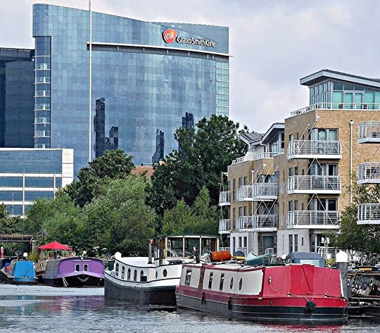 View up River Brent to Great West Road