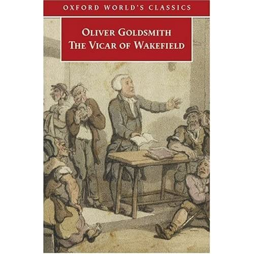 oliver goldsmith the vicar of wakefield 1859 310 pages no dust jacket brown cloth with gilt lettering bleach spotting to text block edges bright pages with light tanning and foxing to page edges cracked guttering with binding remaining firm, and an inscription to front endpaper some mino.