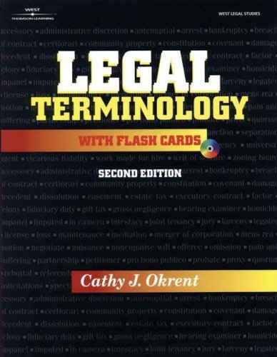 Legal Terminology  by  Cathy J. Okrent