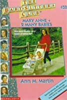 Mary Anne and 2 Many Babies (Baby-Sitters Club, No. 52), Ann M. Martin, Good Boo