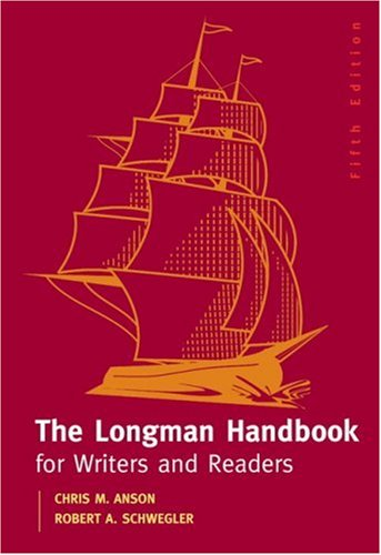 Longman Handbook For Writers And Readers, The (5th Edition) (My Comp Lab Series) Chris M. Anson