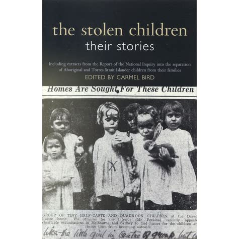 the stolen children The stolen generations is the name given to at least 100,000 aboriginal children who were forcibly removed or taken under duress from their families by.