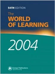 The World of Learning 2004  by  Europa Publications