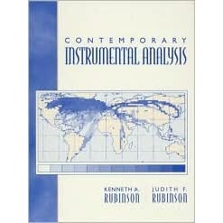 Contemporary Instrumental Analysis - Kenneth A. Rubinson