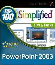 PowerPoint 2003: Top 100 Simplified Tips & Tricks  by  maranGraphics Development Group