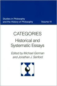 Catagories Historical and Systematic Essays  by  Michael E. Gorman