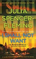 I Shall Not Want (Clare Fergusson Series #6)