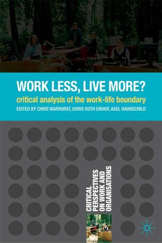 What Work? What Life? What Balance? Critical Reflections on the Work-Life Balance Debate. Employee Relations, Volume 29, Issue 4 Doris Ruth Eikhof