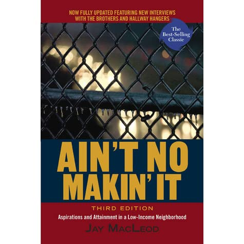two different groups of young men in aint no makin it by jay macleod Find great deals for ain't no makin' it : aspirations and attainment in a the young men struggled of ain't no makin' it jay macleod brought us to.
