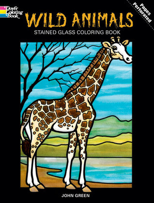 Coloring Book:  Wild Animals Stained Glass  by  NOT A BOOK
