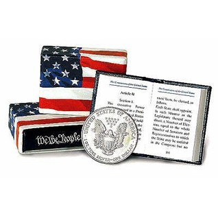 Constitution Of The United States Of America / The Declaration Of Independence Minibook  by  Thomas Jefferson