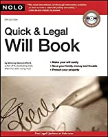 Quick & Legal Will Book [With CDROM]